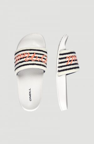 Pala O'Neill Señora Slide Terry Sandals Blanco